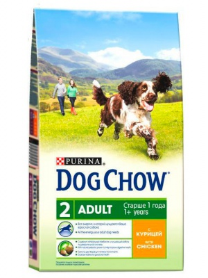 Корм Dog Chow Adult Chicken 14кг