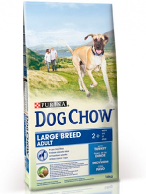 Корм Dog Chow Adult Large Breed With Turkey 14кг