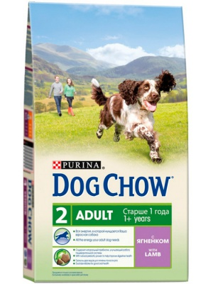 Корм Dog Chow Adult With Lamb 14кг