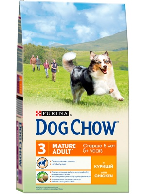 Корм Dog Chow Mature Adult With Chicken 14кг