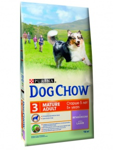 Корм Dog Chow Mature Adult With Lamb 14кг