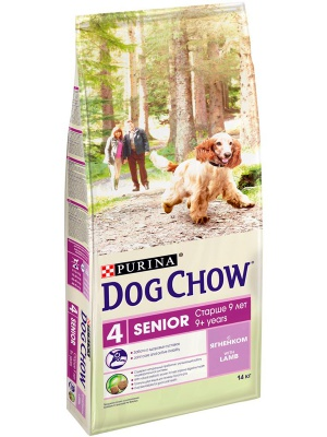 Корм Dog Chow Senior with Lamb 14кг