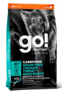 Корм GO Natural CARNIVORE GF Chicken,Turkey + Duck Adult Recipe DF 10 кг
