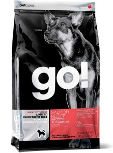 Корм GO Natural Sensitivity + Shine Salmon Dog Recipe, Grain Free, Potato Free 11,3кг