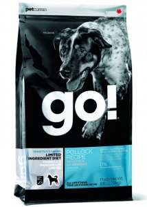 Корм GO Sensitivity + Shine LID Pollock Dog Recipe, Grain Free, Potato Free 11,3кг