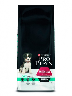 Корм Pro Plan Medium Puppy Sensitive Digestion 12кг