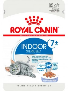 Влажный корм Royal Canin Indoor Sterilised 7 + в желе 85гр