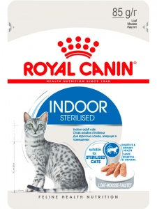 Влажный корм Royal Canin Indoor Sterilised паштет 85гр