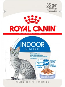 Влажный корм Royal Canin Indoor Sterilised в желе 85гр