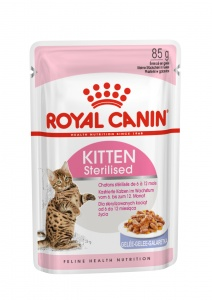 Влажный корм Royal Canin Kitten Sterilised в желе (85гр)